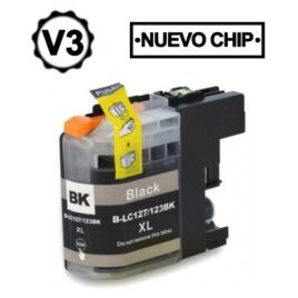 BROTHER LC121XL/LC123XL V3 NEGRO CARTUCHO DE TINTA COMPATIBLE
