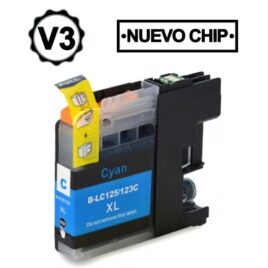 BROTHER LC121XL/LC123XL V3 CYAN CARTUCHO DE TINTA GENERICO